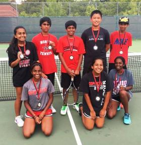 9-15-2016 Freshman Medal Winners at Coppell JV Tourn
