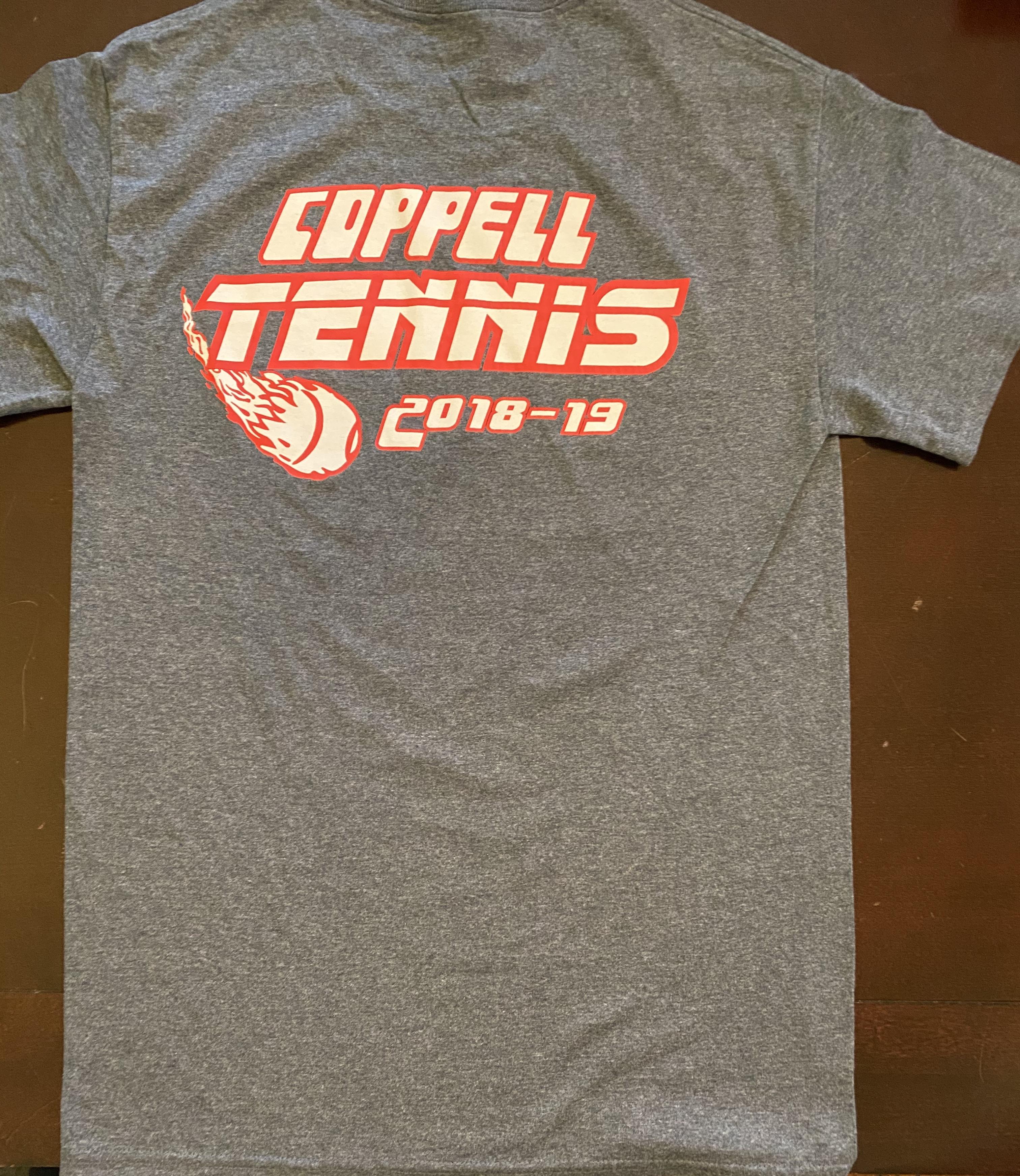 2018-2019 Dark Grey Coppell Tennis Cotton T-Shirt