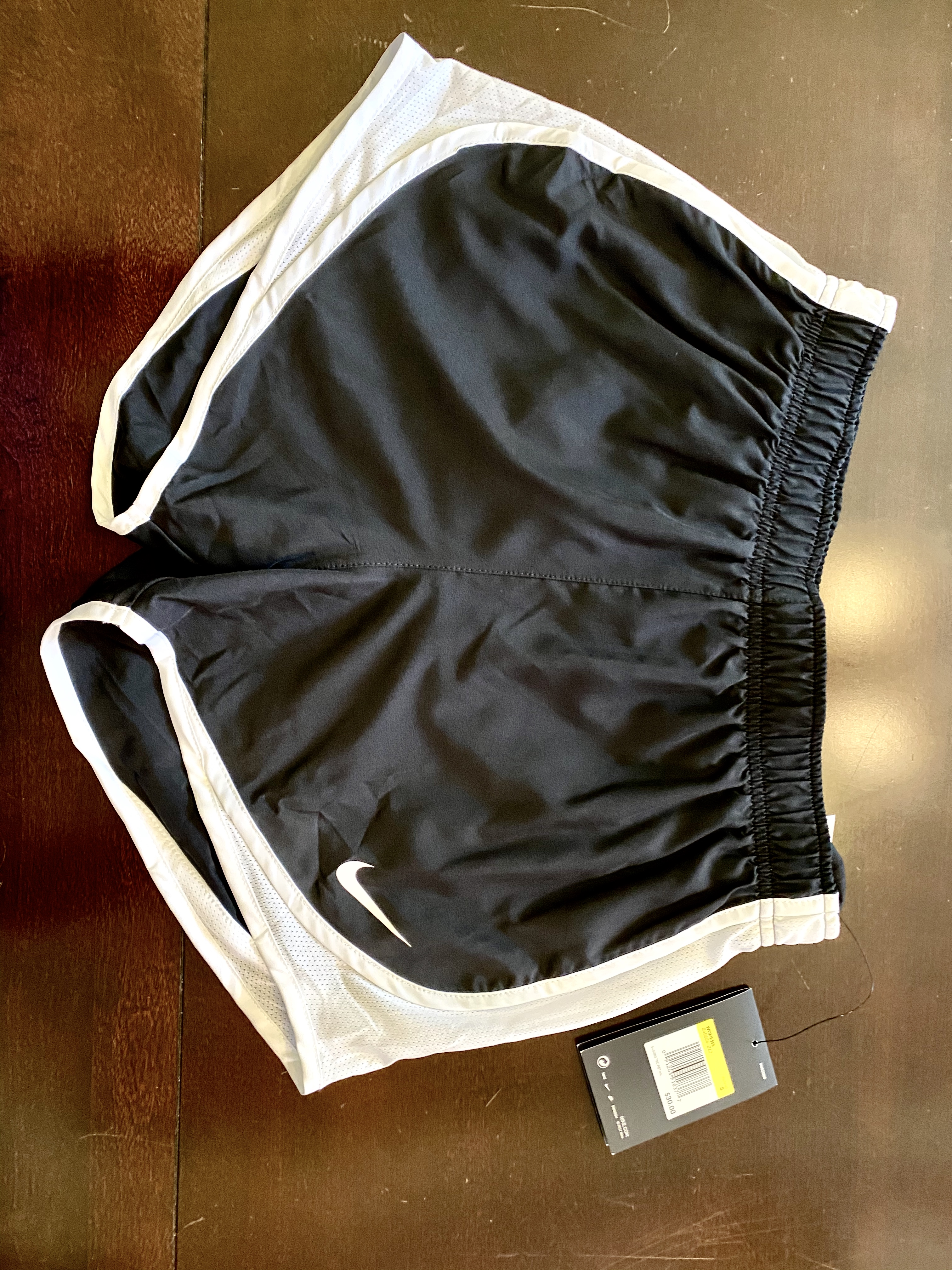 Women's Black & White Nike Running Shorts