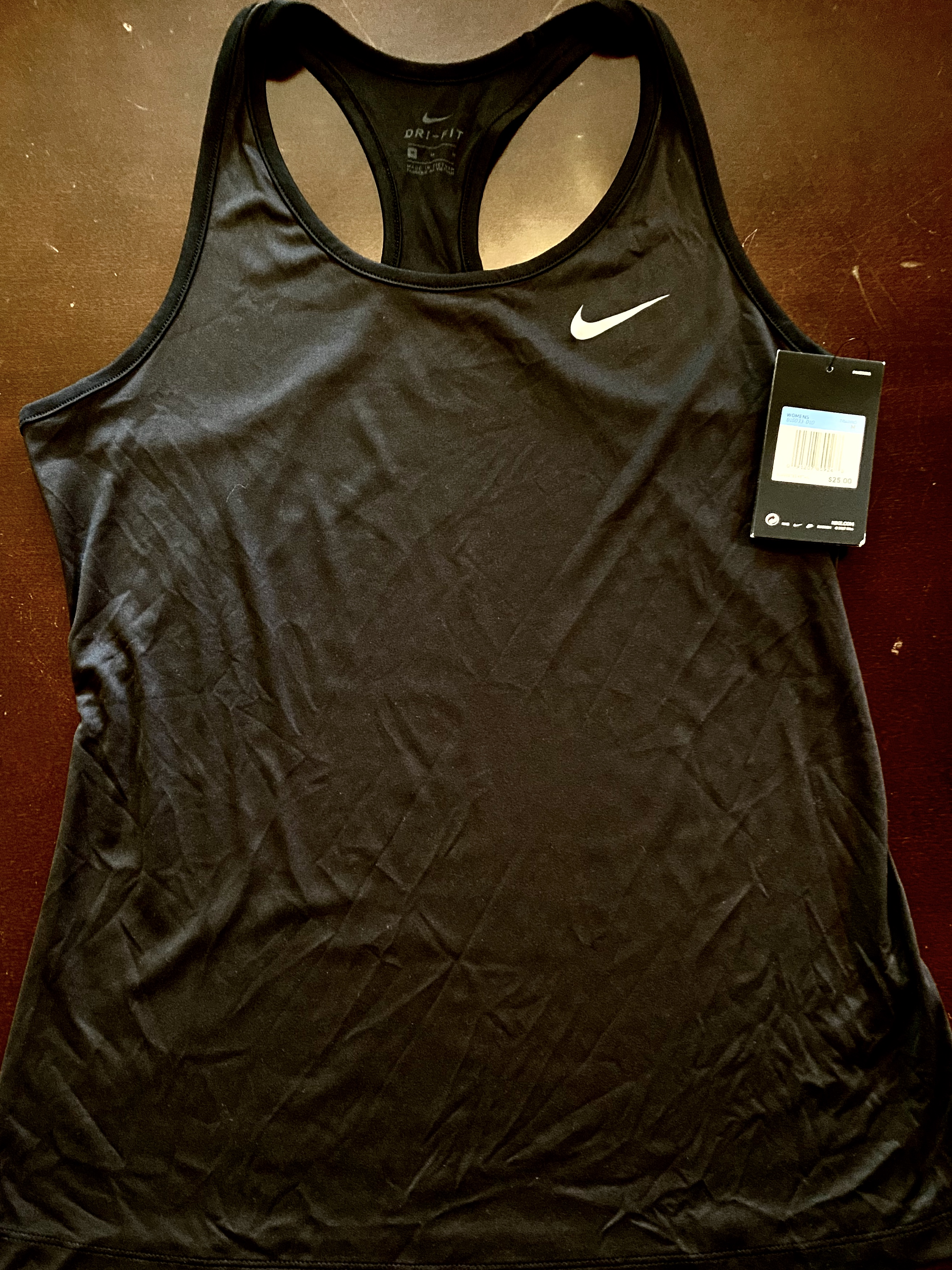 Medium Women's Black Nike Dri-Fit Tank